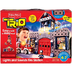 trio lights sounds fire station building